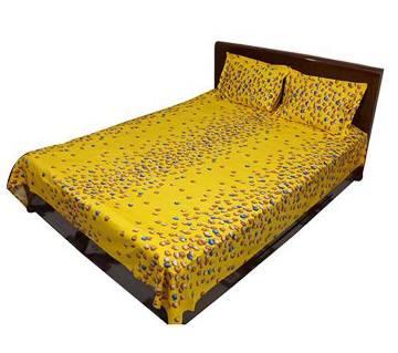 super cotton bed sheet set- 3 pieces
