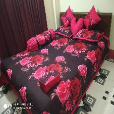 8 pcs cotton double seze bedsheet set