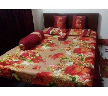 8 pieces comfortable twill bed sheet set