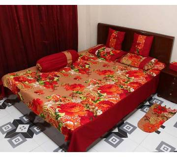 8 pieces sukhi cotton bed sheet set