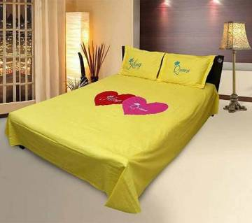 Exclusive Valentine Bed Sheet with Pillow Cover