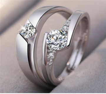 925 Silver Couple Finger Ring