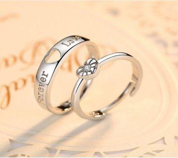 VALENTINES SPECIAL ELEGANT EMITATION DIAMOND COUPLE RING