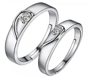 VALENTINES SPECIAL ELEGANT IMITATION DIAMOND COUPLE RING