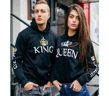 King Queen Couple Hoodie - for winter- king size
