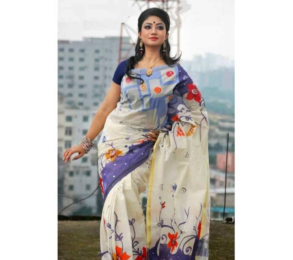 কটন কোটা handprint শাড়ি বাংলাদেশ - 642391