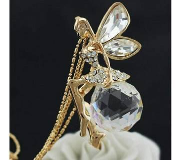 Crystal Angel fairy wing Pendant