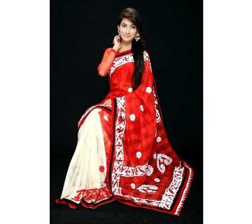Boishakhi silk applique sharee