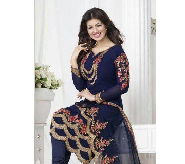 Unstitched georgette embroidery three pc