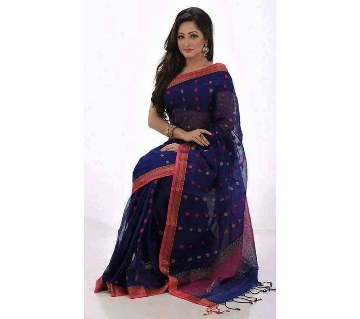 Blue georgette sharee with border