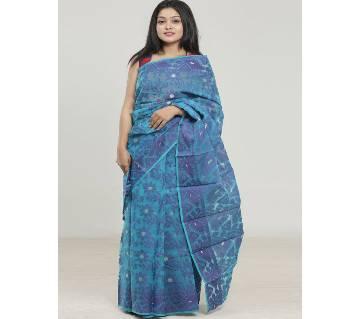 Multicolour Silk Zori Jamdani Saree For Women