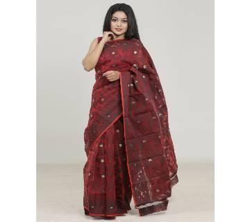 Multicolour Silk Jamdani Saree For Women