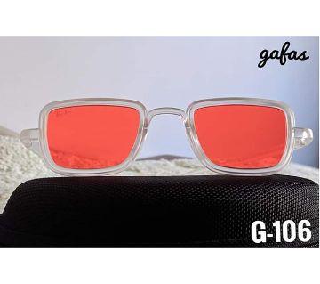 Black Frame Red Lens Kabir Singh Sunglasses For Men