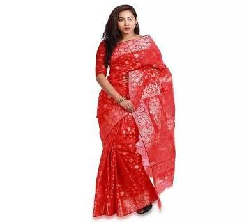 Original Red Jamdani Saree For Woman