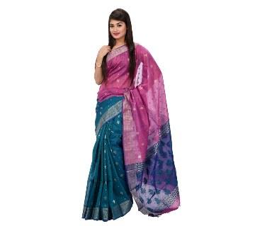 colorful half silk sharee