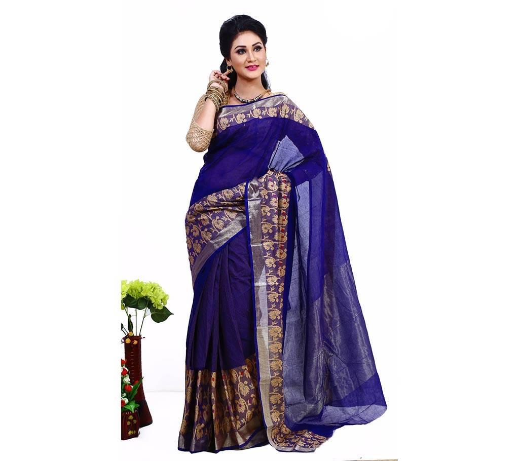 সুতি ছোট-বড় লতা পার শাড়ি বাংলাদেশ - 521642