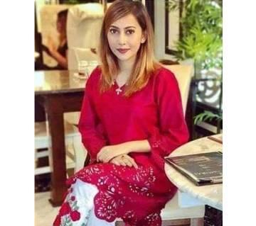 PAKISTANI LASAR CUT TWO-PIECE SALWAR KAMEEZ (Un-stiched) FOR WOMEN