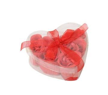 Valentine Gift Flower Soap Box-Red
