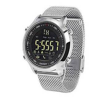 EX18 Stainless Steel Smart Sports Watch - Silver