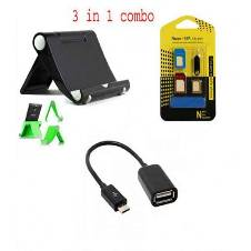 Tablet/phone holder+mobile sim tray + OTG Cable