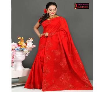 pure red muslin silk,