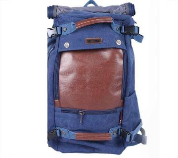 Brown and Blue Backpack For Men