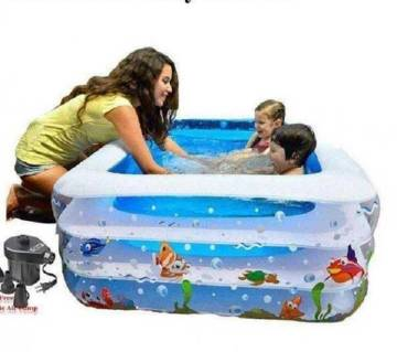 Inflatabe Baby Swimming Pool With Pamper