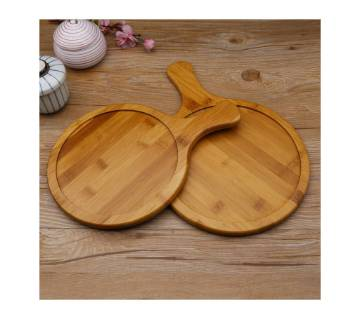 Round Head Wooden Pizza Plate 14""