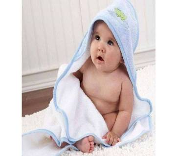 Sky Blue Cotton Cap Towels for Baby