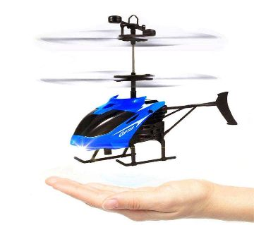 Hand Sensor Rechargeable Aircraft Helicopter-blue