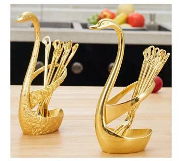 Swan Sugar Spoon Set
