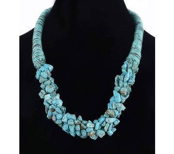 Natural Stone Beads Rope Chain Necklace