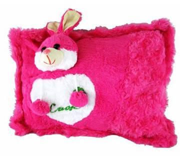 Deep pink rabbit pillow