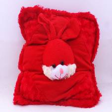 Red Rabbit Cushion