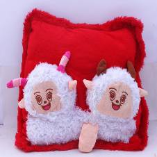 Two Head Red Cushion