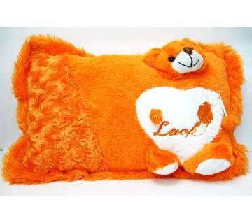 Orange bear pillow