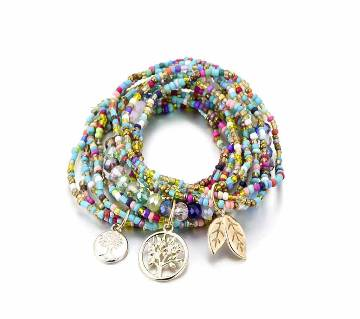Tree Leave Charm Beads Bracelet