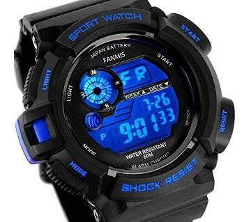 Rubber Digital gents Wrist sports Watch