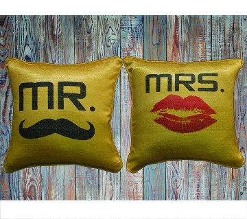 Mr. & Mrs. Couple Cushion Cover
