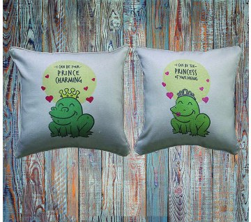 Couple Frog Cushion cover