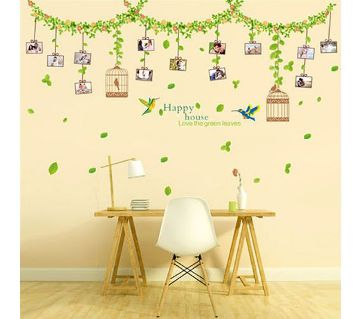 Hanging photo frame wall sticker