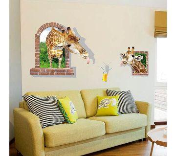 3D giraffe wall sticker