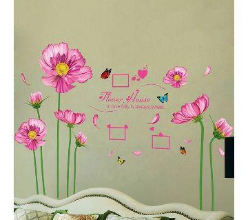 flower & photo frame sticker