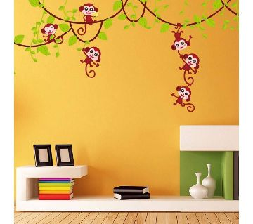playing monkey wall sticker