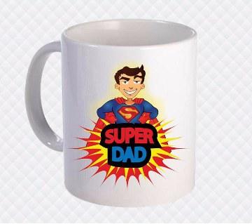 Super Dad প্রিন্টেড সিরামিক মগ