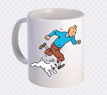 Tintin প্রিন্টেড সিরামিক মগ
