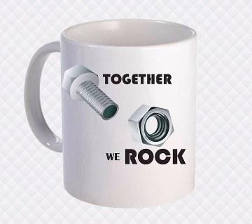 Together we Rock প্রিন্টেড সিরামিক মগ