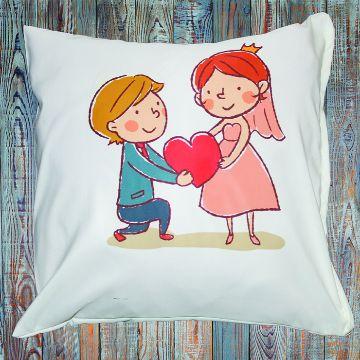 Cushion Cover - Couple Love