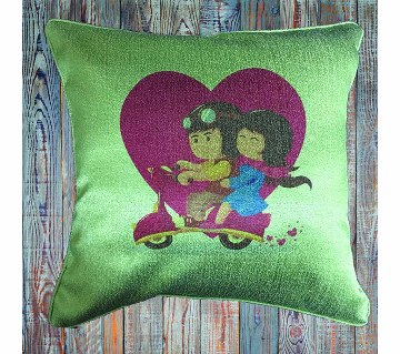 Cushion Cover -  Couple Cycle