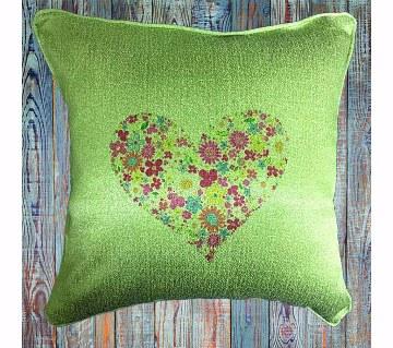 Cushion Cover - Heart Shape Flower